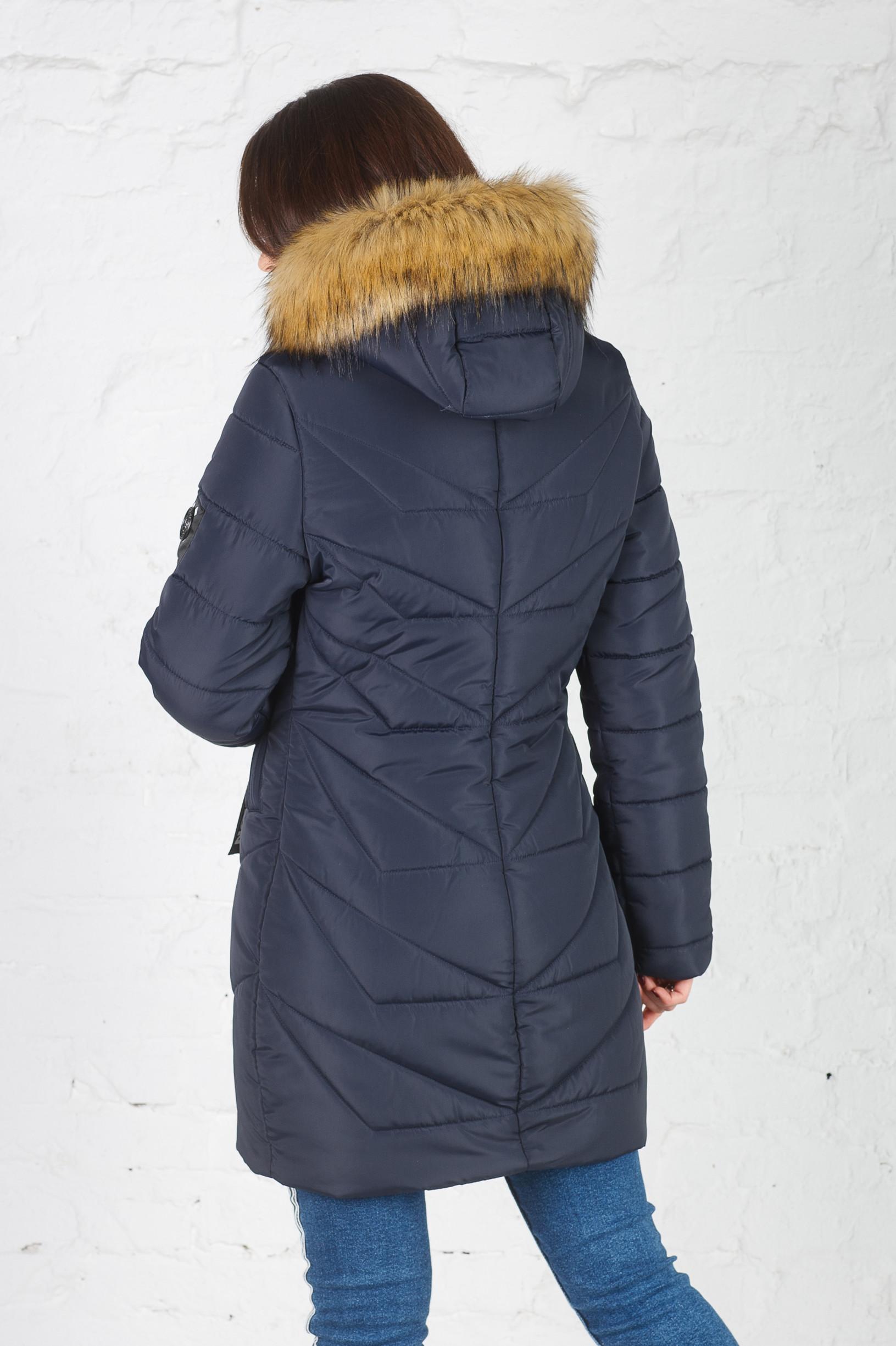 Молодёжная зимняя куртка Дейзи синяя
