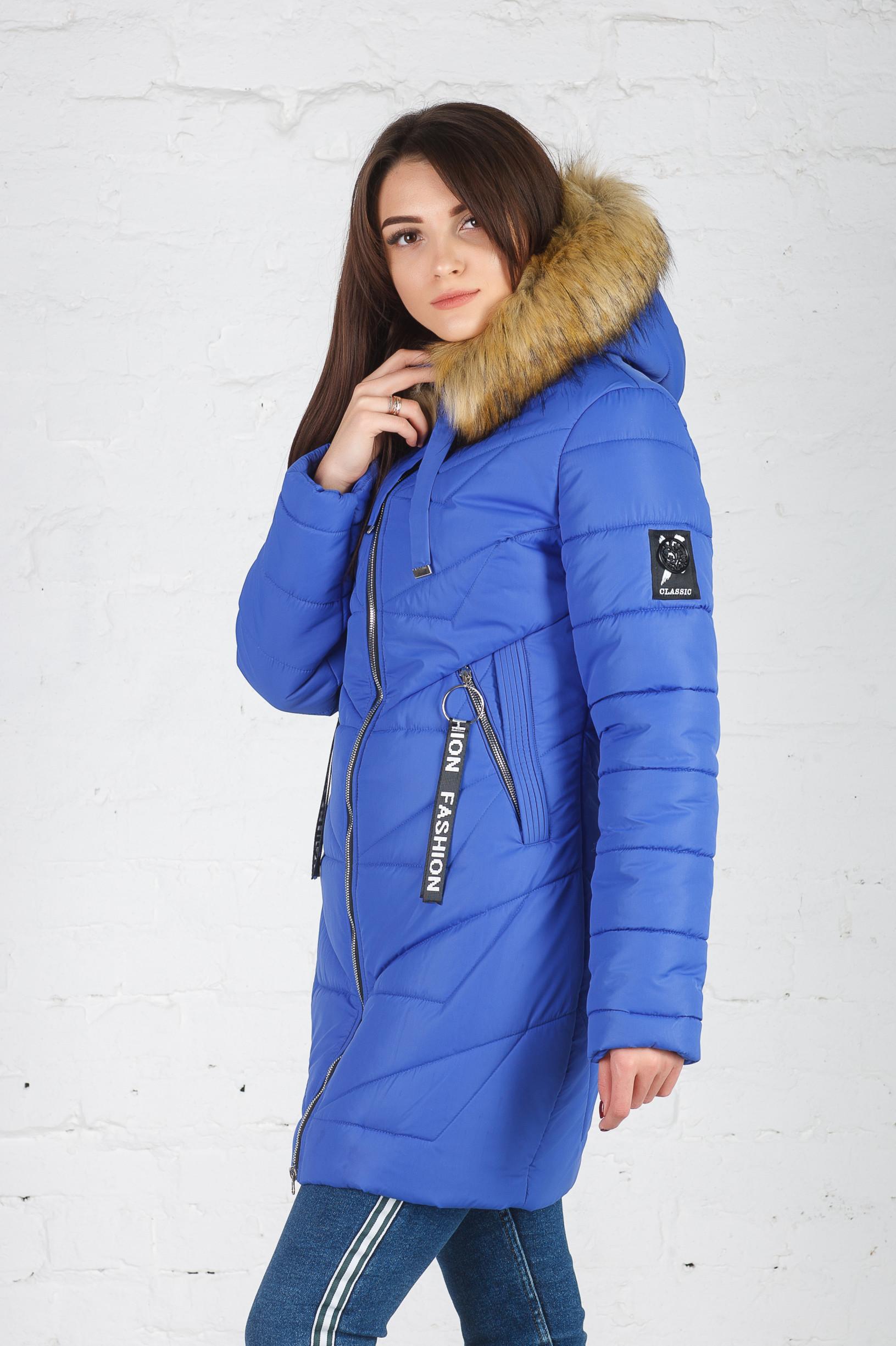 Молодёжная зимняя куртка Дейзи электрик