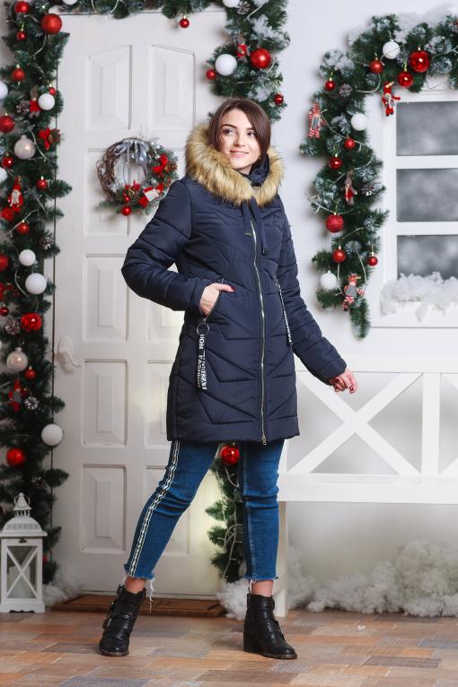Удлиненные зимние женские куртки