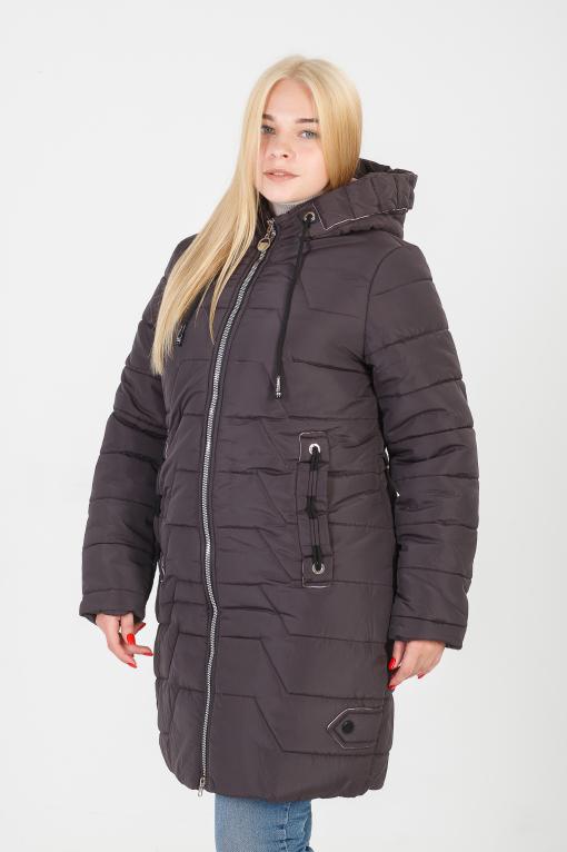 Зимняя бордовая куртка без меха Кайли