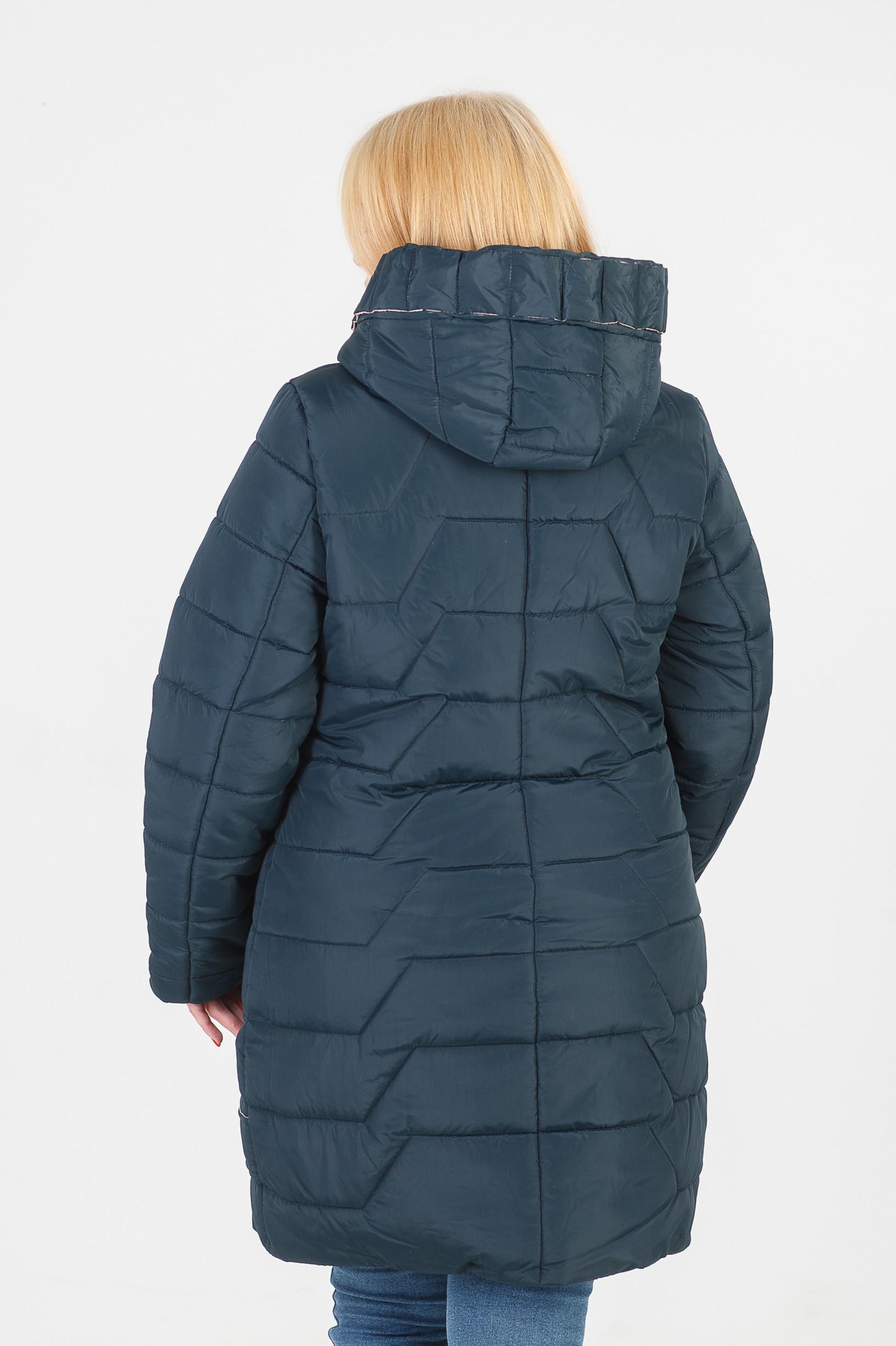 Куртка зимняя без меха зелёная Кайли