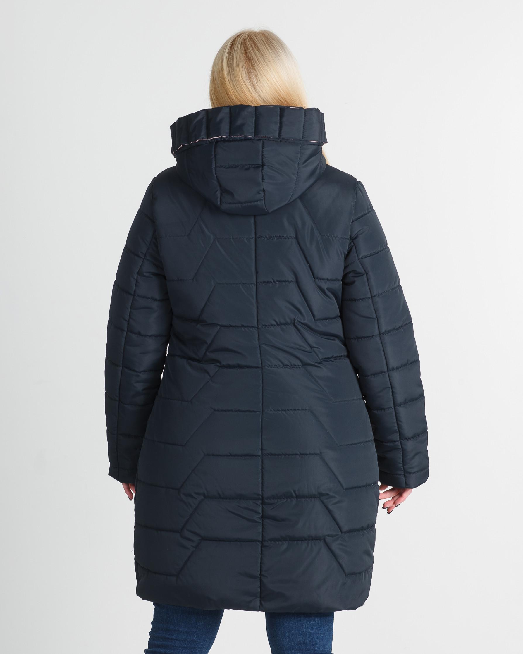 Куртка зимняя без меха тёмно синяя Кайли