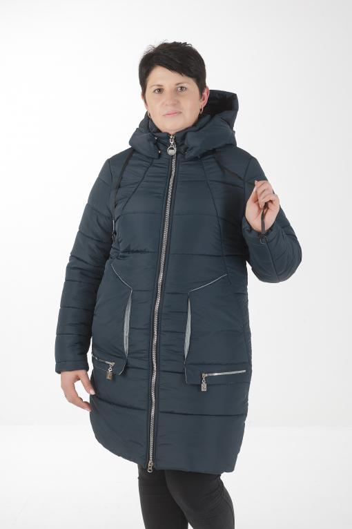 Зимнее женское пальто бирюзового цвета Дорис