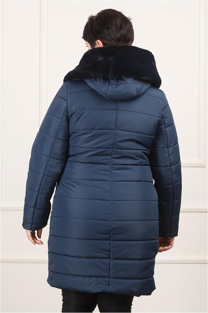 Женская зимняя куртка Джули больших размеров синяя