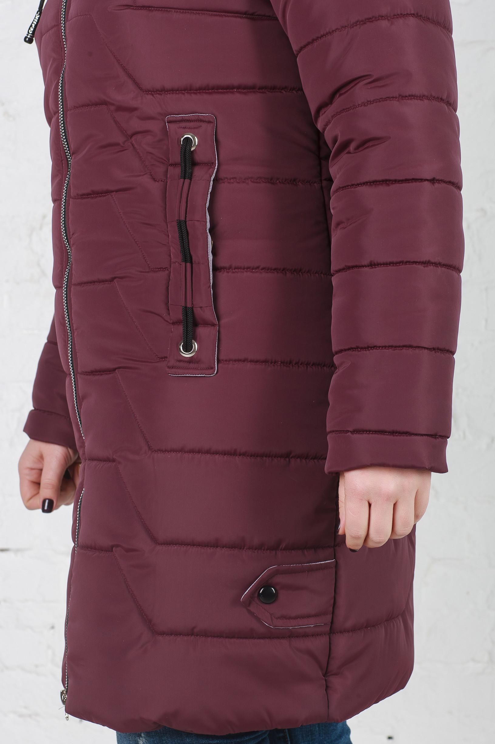 Куртка зимняя без меха Кайли бордо
