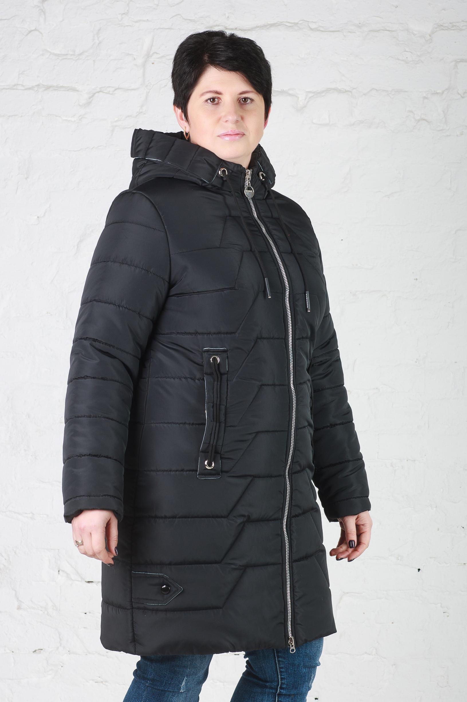 Куртка зимняя без меха Кайли темный графит