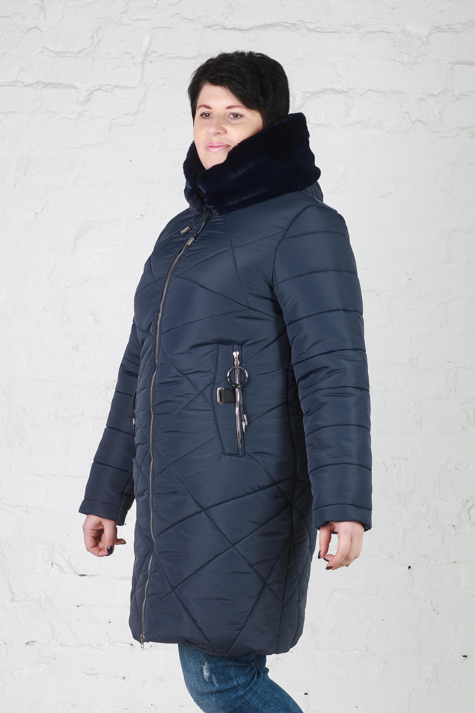 Женская зимняя куртка Женя синяя
