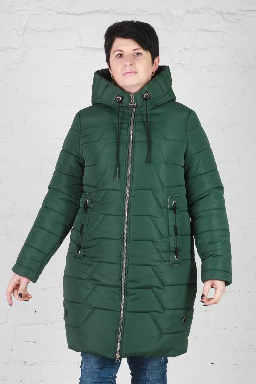 Куртка зимняя без меха Кайли зелёная