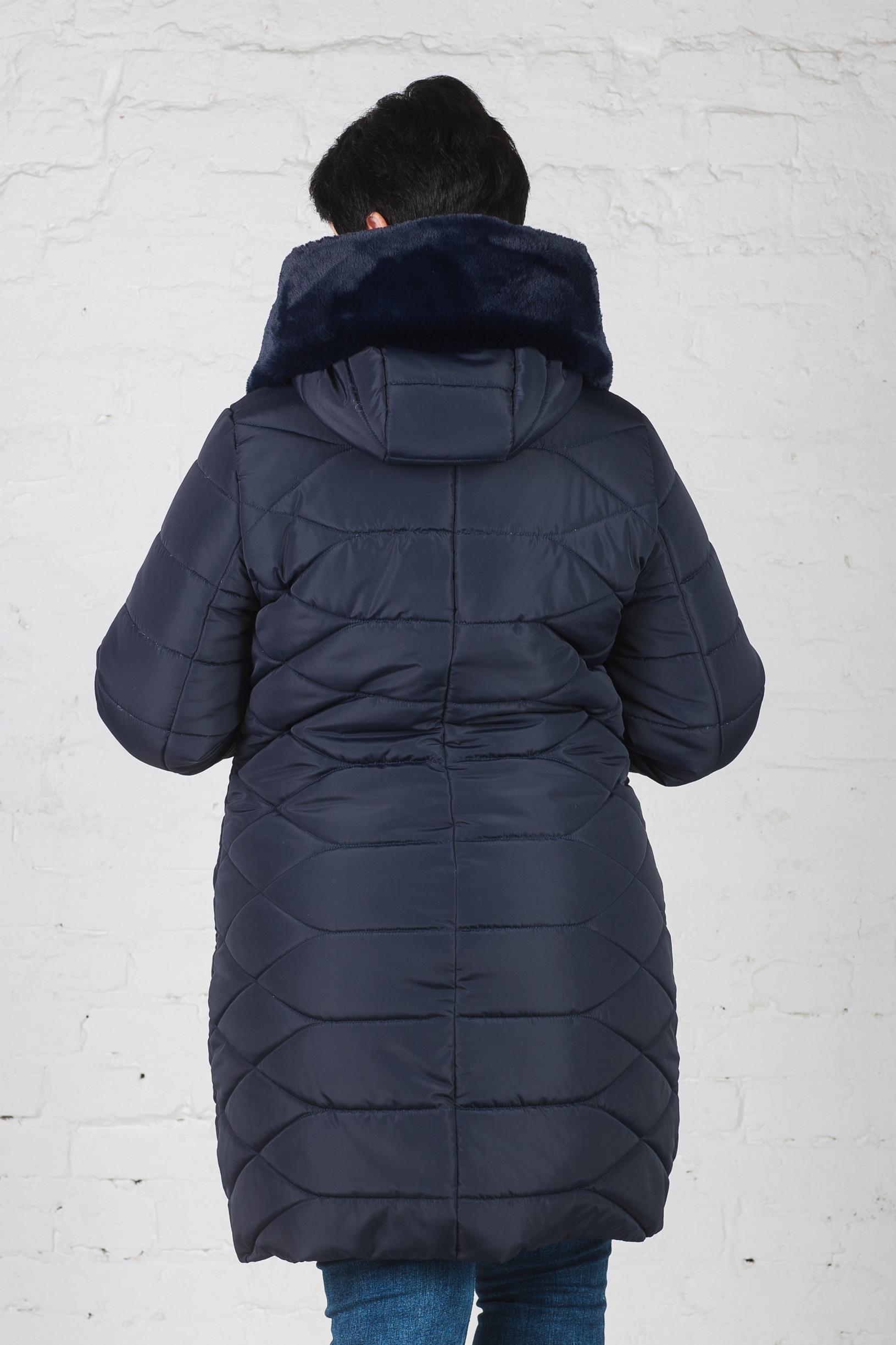 Зимняя женская куртка Слава синяя