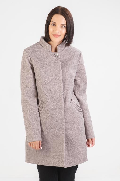 Весеннее пальто Бетти пудра