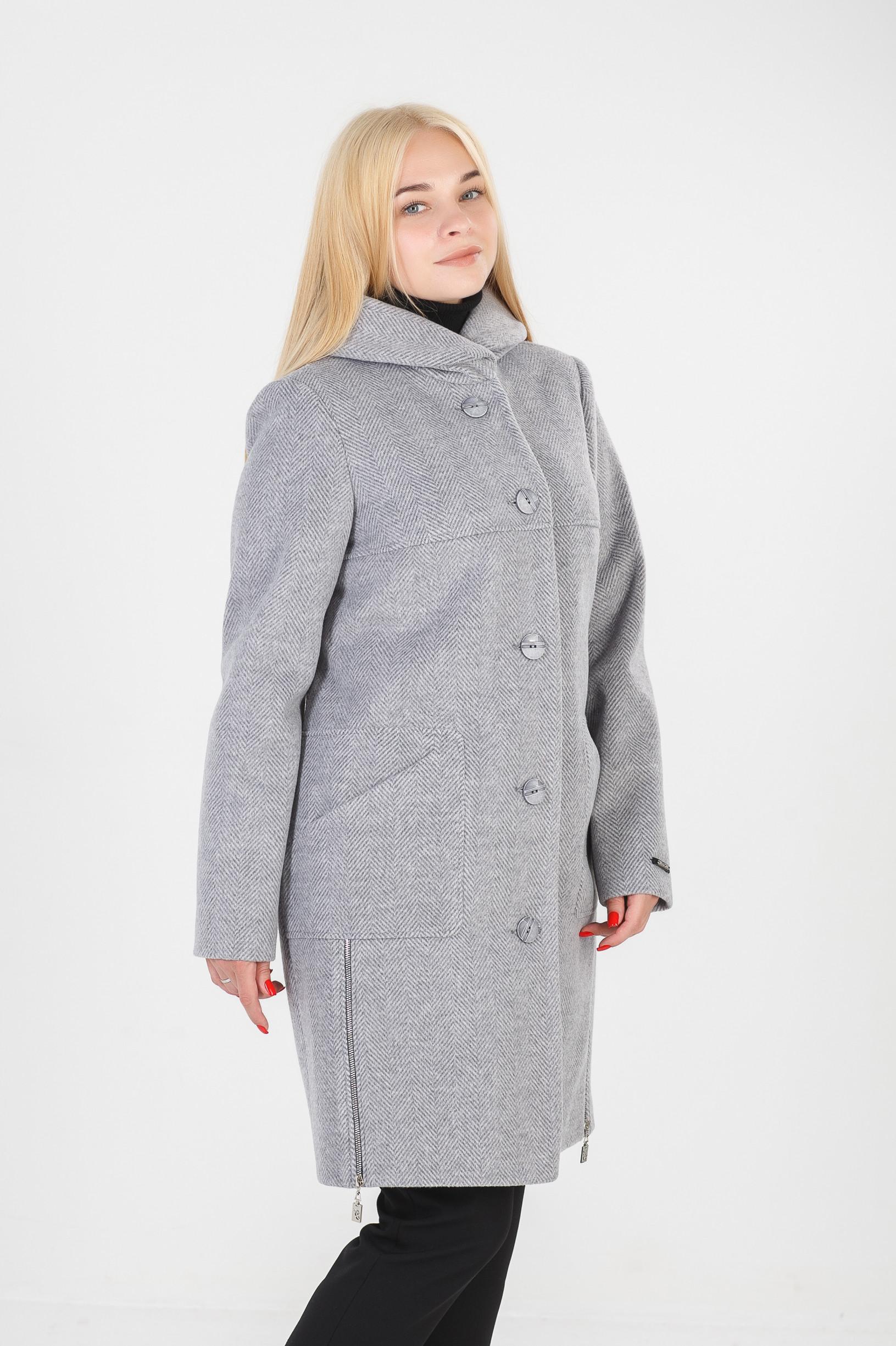 Женское серое пальто Стелла