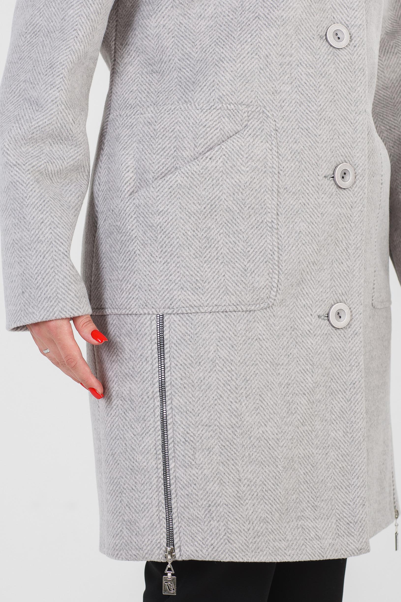 Женское светло серое пальто Стелла