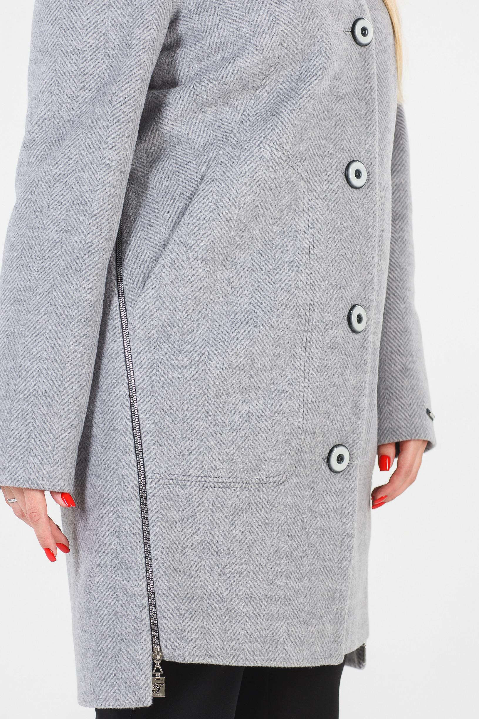 Женское серое пальто Полина