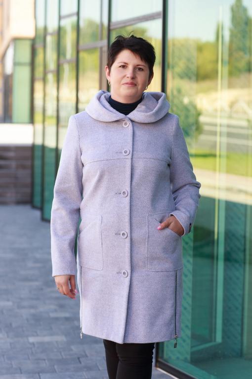 Женское розовое  пальто Стелла