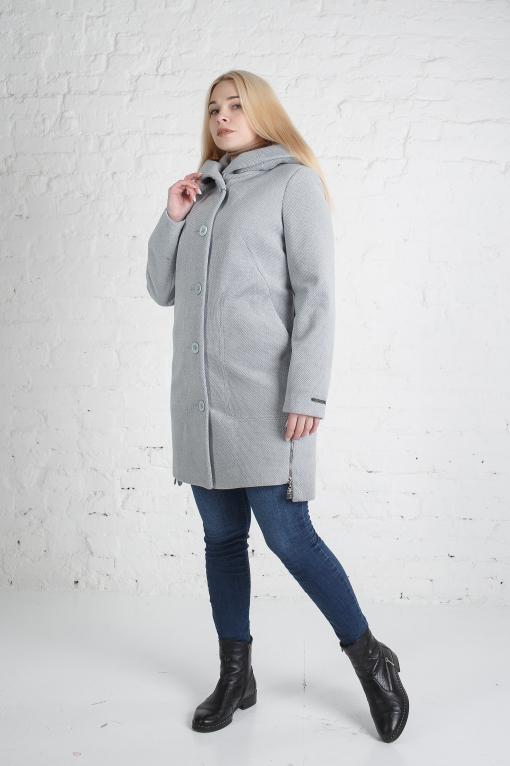 Женское голубое пальто Полина