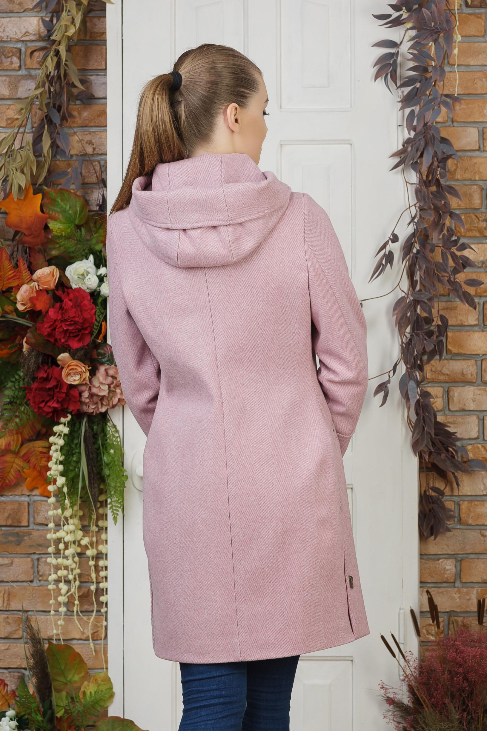 Пальто молодёжное Ева розовое