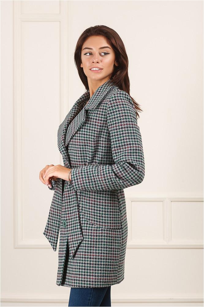 Стильное женское пальто Семи пудра