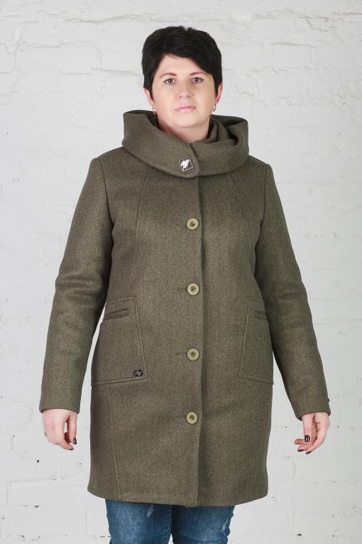 Женское утеплённое пальто Мери зелёное