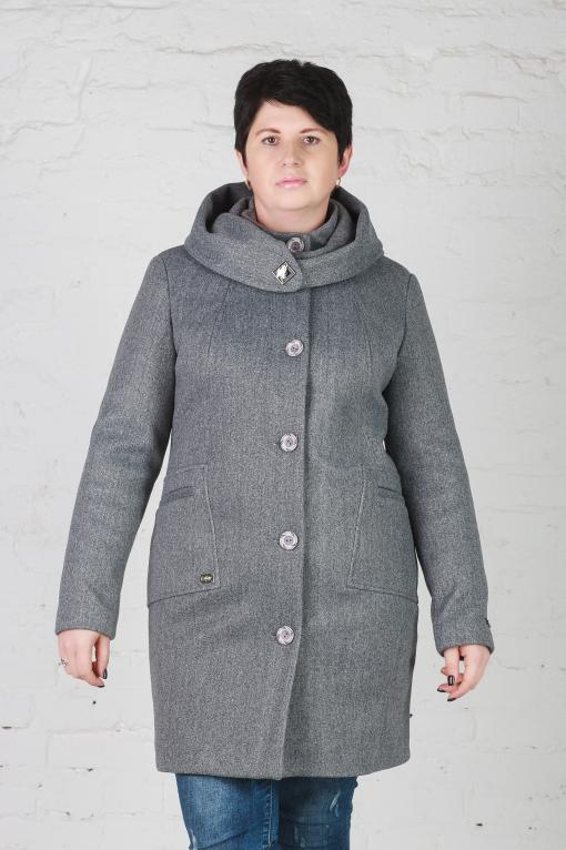 Женское утеплённое пальто Мери серое