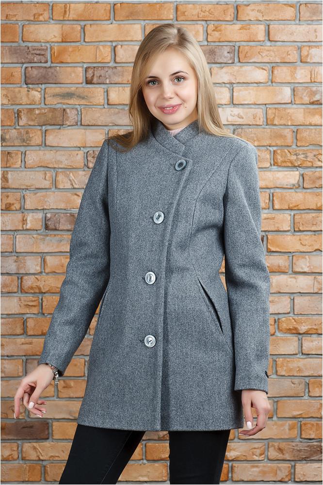 Стильное весеннее пальто Керол серое