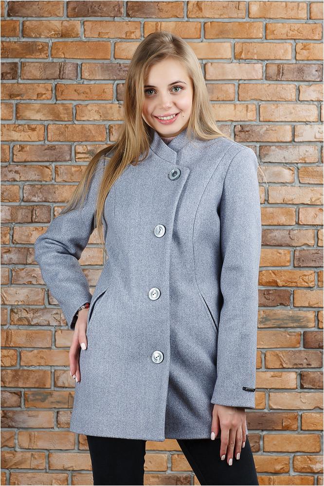 Стильное весеннее пальто Керол светло серое
