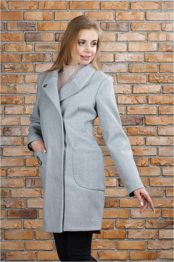 Трендовое женское пальто Полли серое