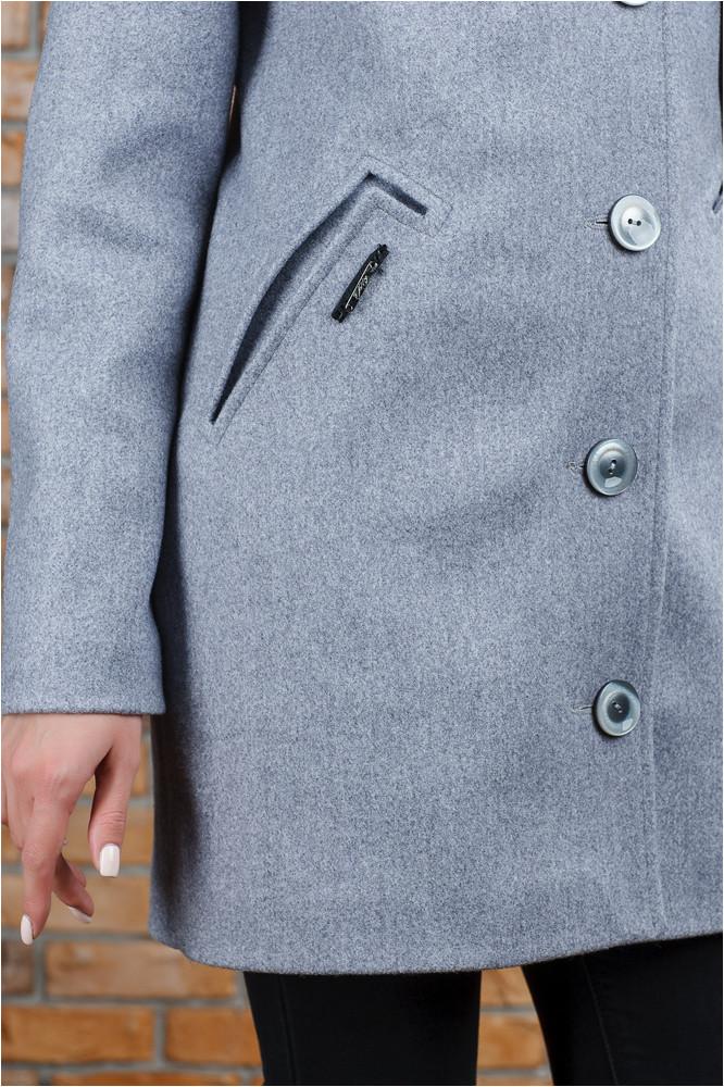 Нежное весеннее пальто Парма серое
