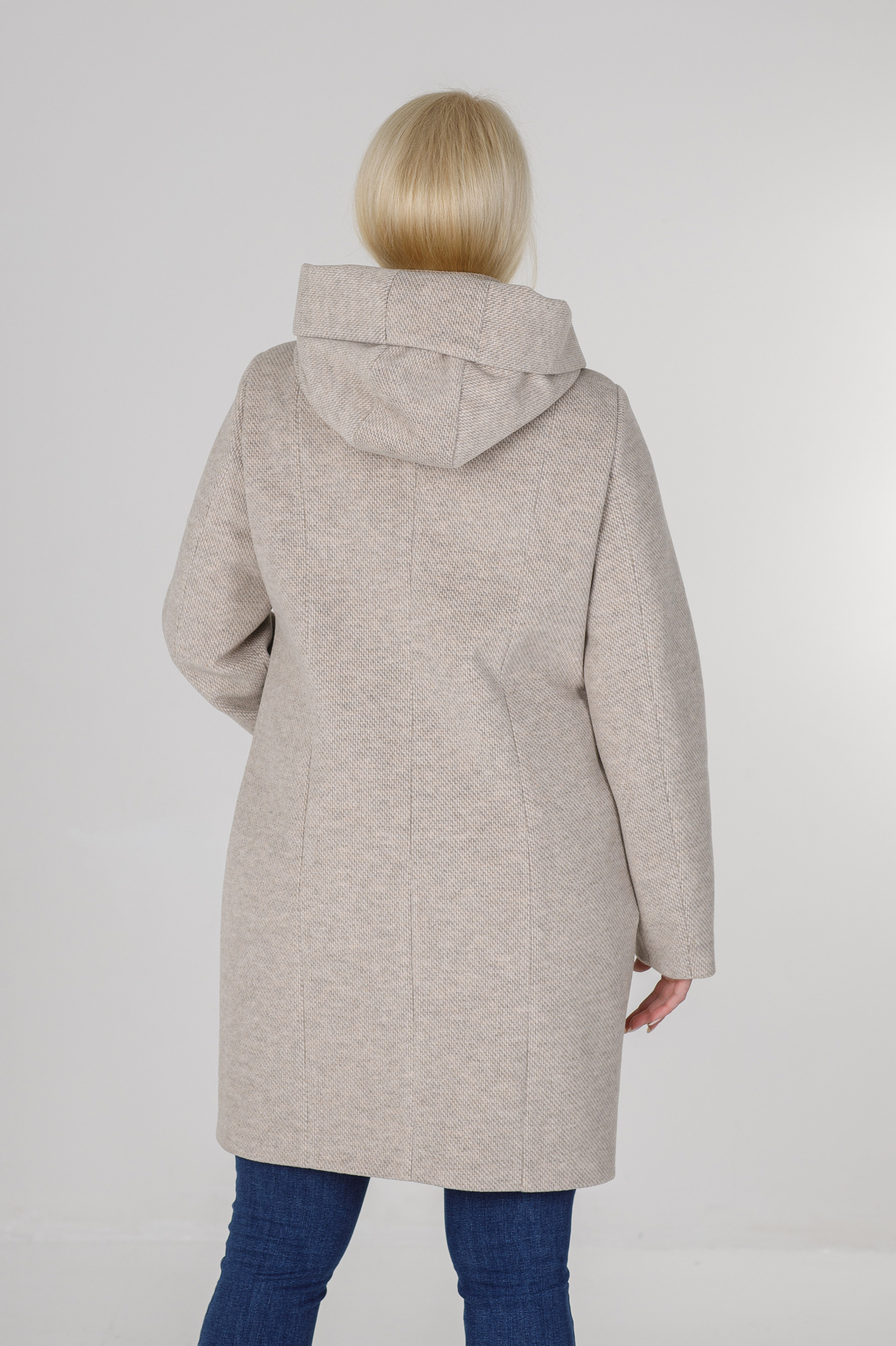 Женское пальто Мери бежевое