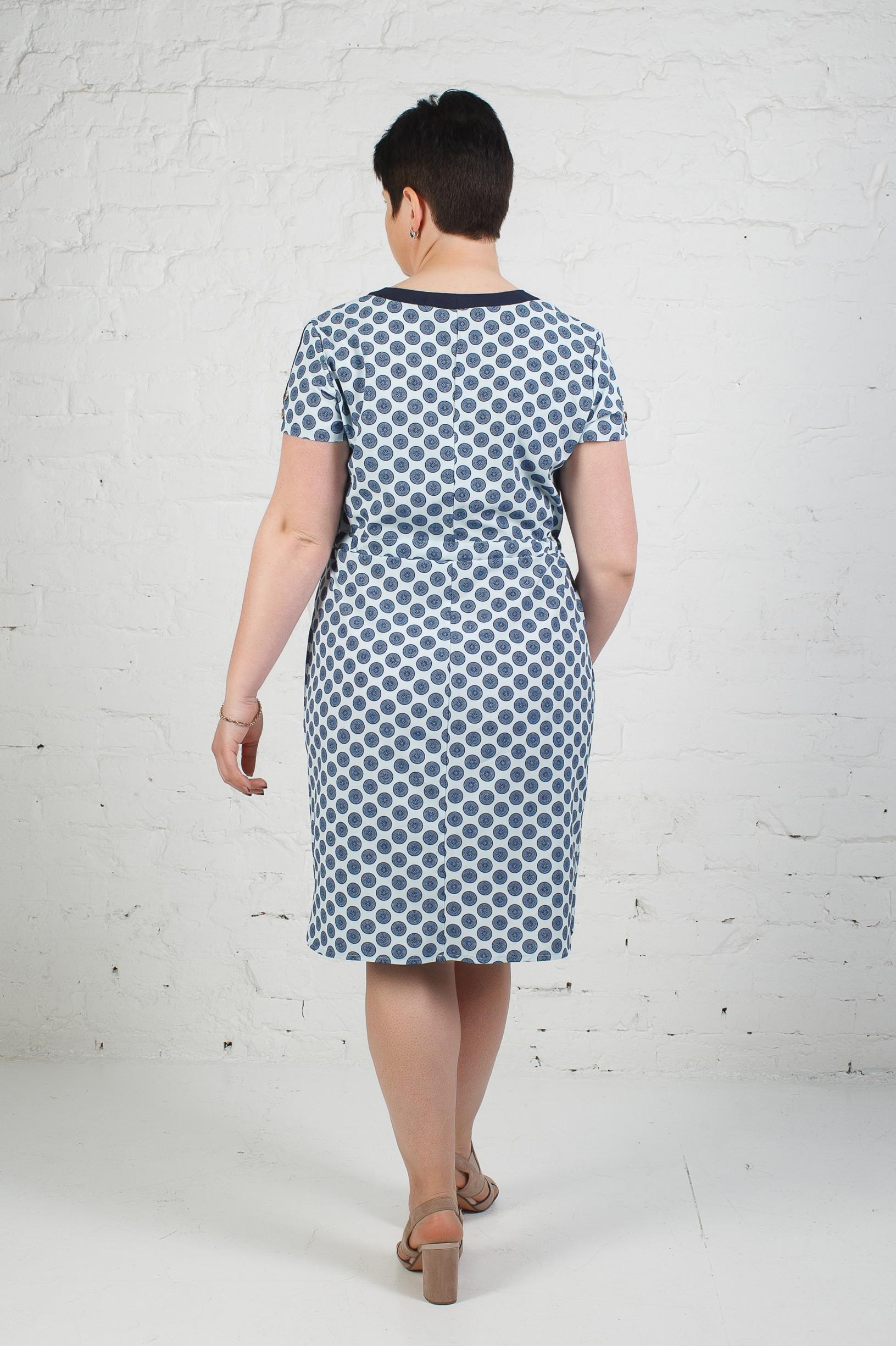 Стильное платье из софта п-638 медальки