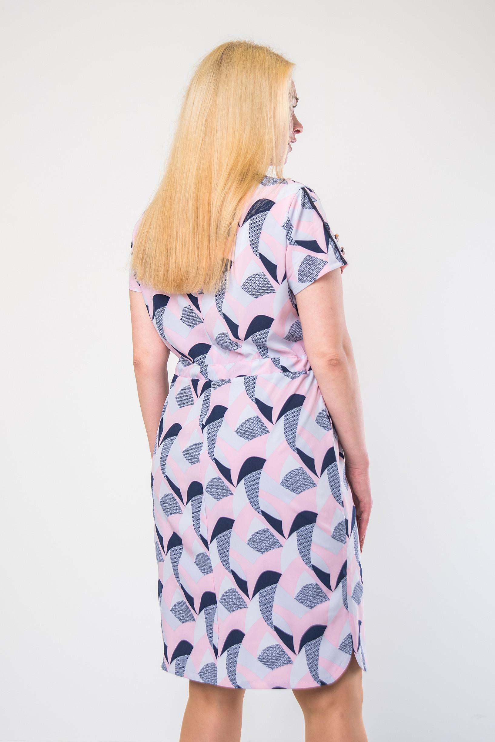 Стильное платье из софта п-638 листок