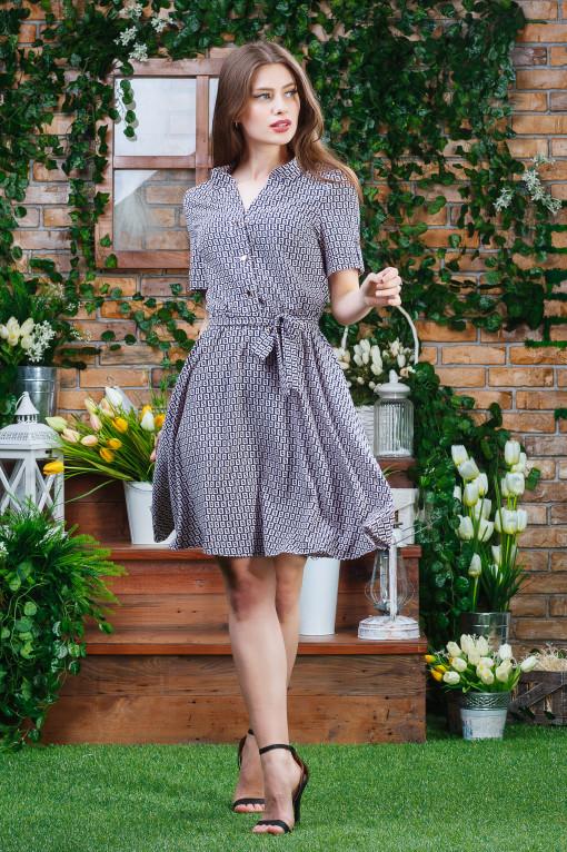 Воздушное платье п-6361