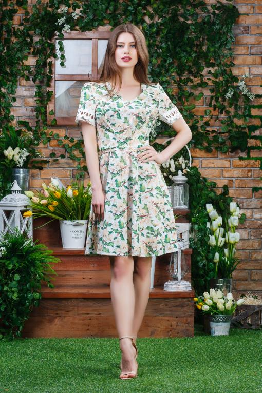 Воздушное платье п-6362