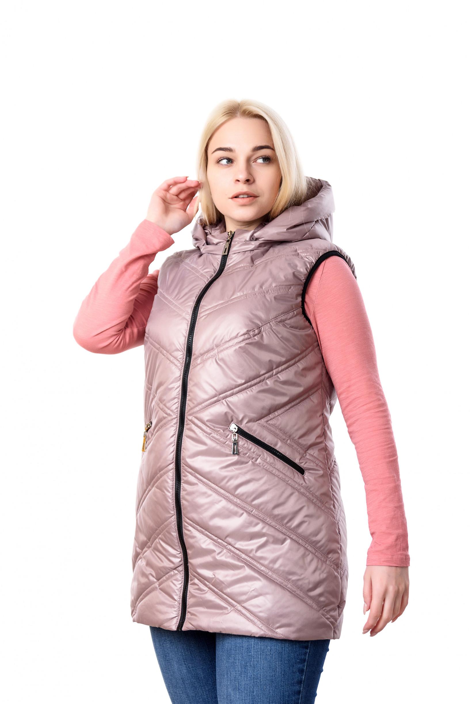 Женская розовая жилетка Симба
