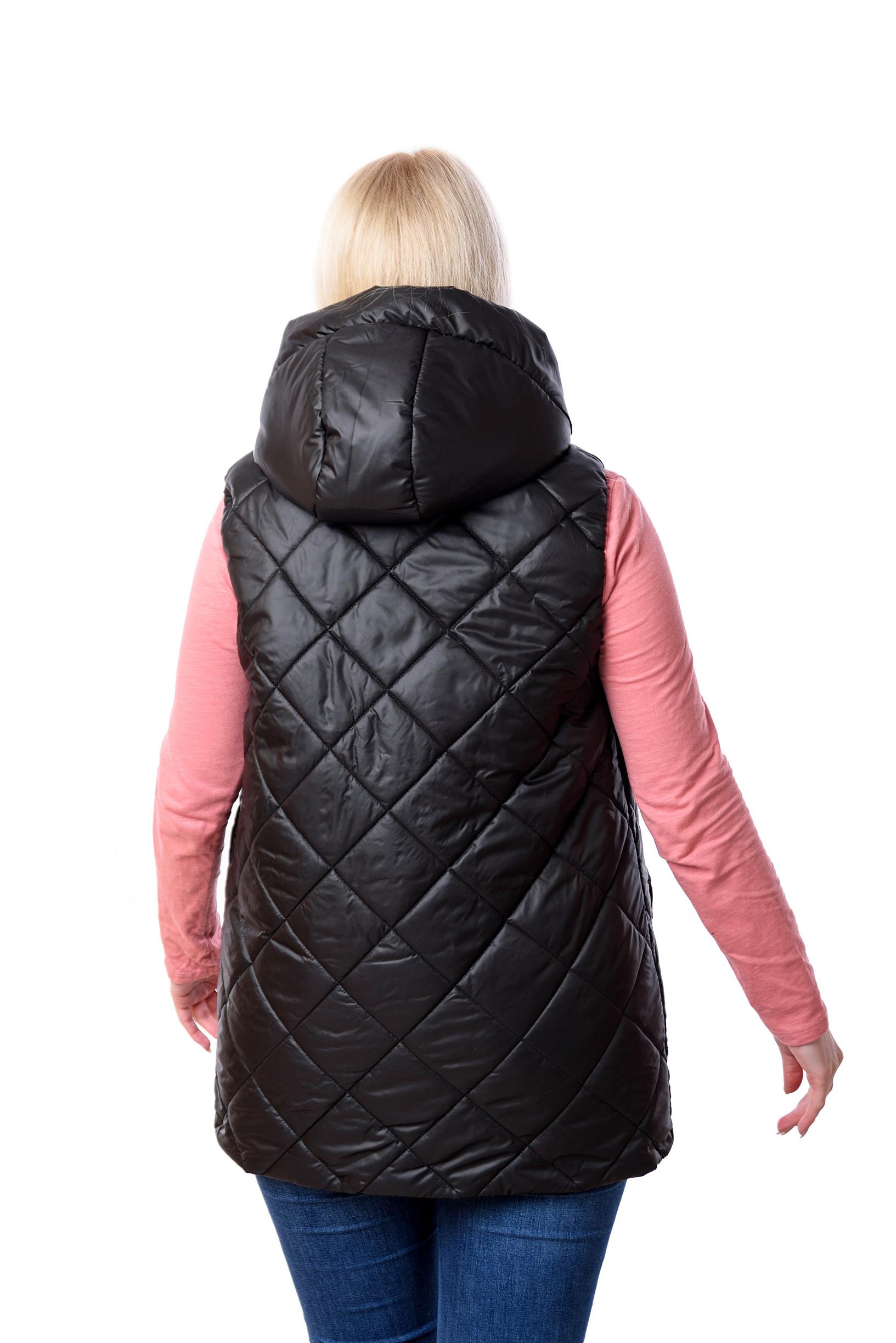 Женская чёрная безрукавка жилетка Кира