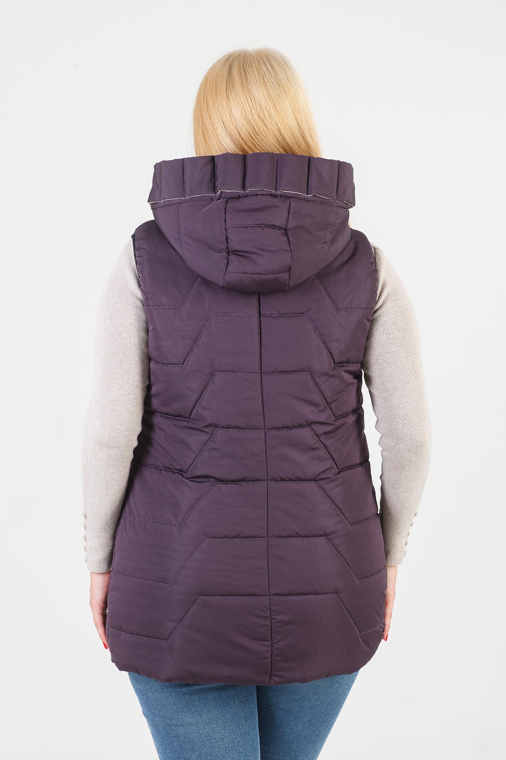 Фиолетовая стильная жилетка Ками