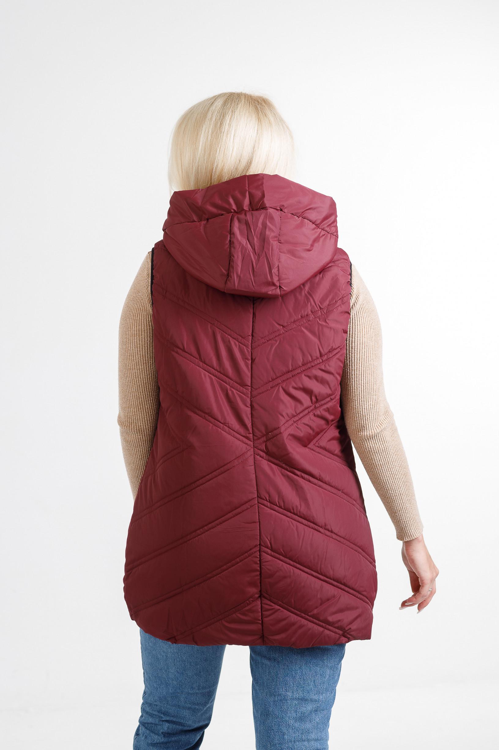 Женская жилетка Симба бордового цвета