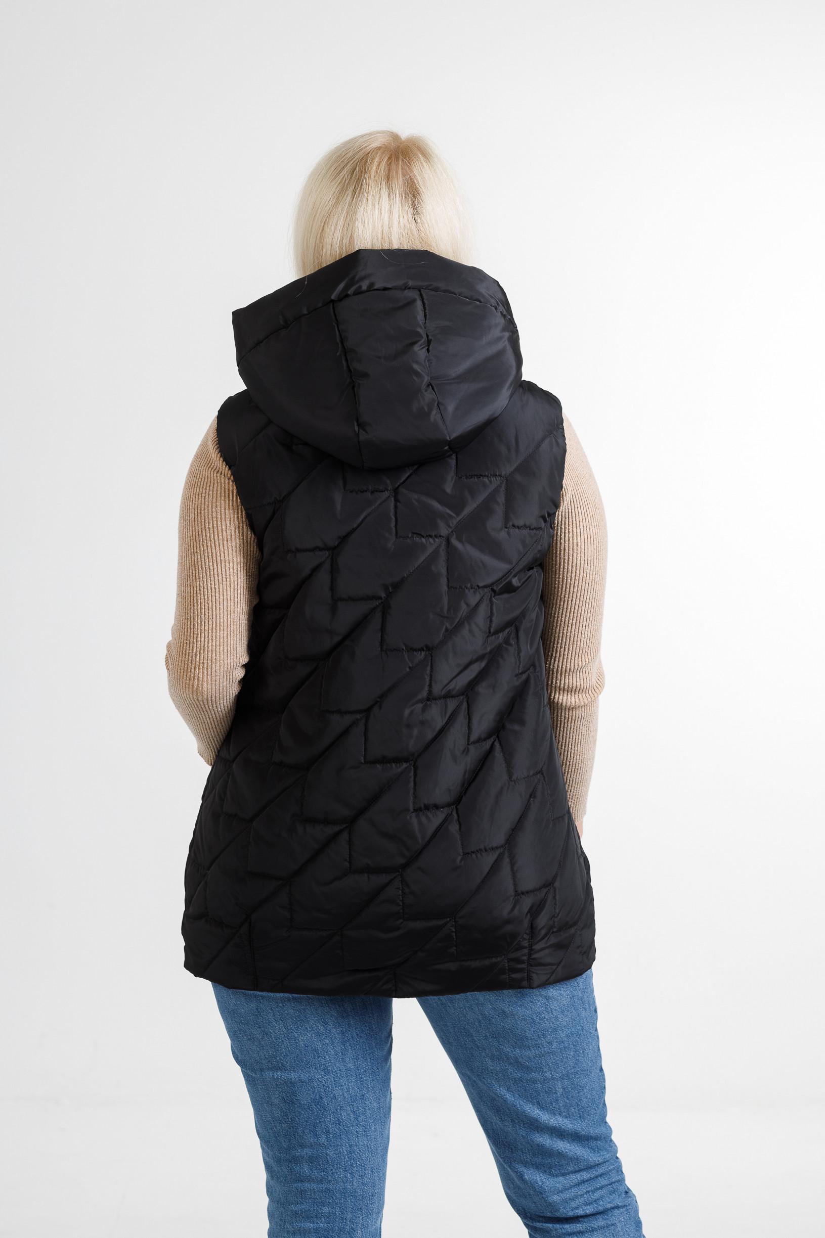 Женская безрукавка Феба чёрного цвета