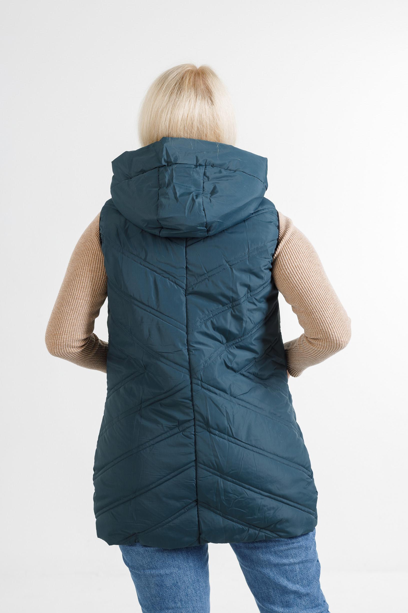 Женская жилетка Симба бирюзового цвета