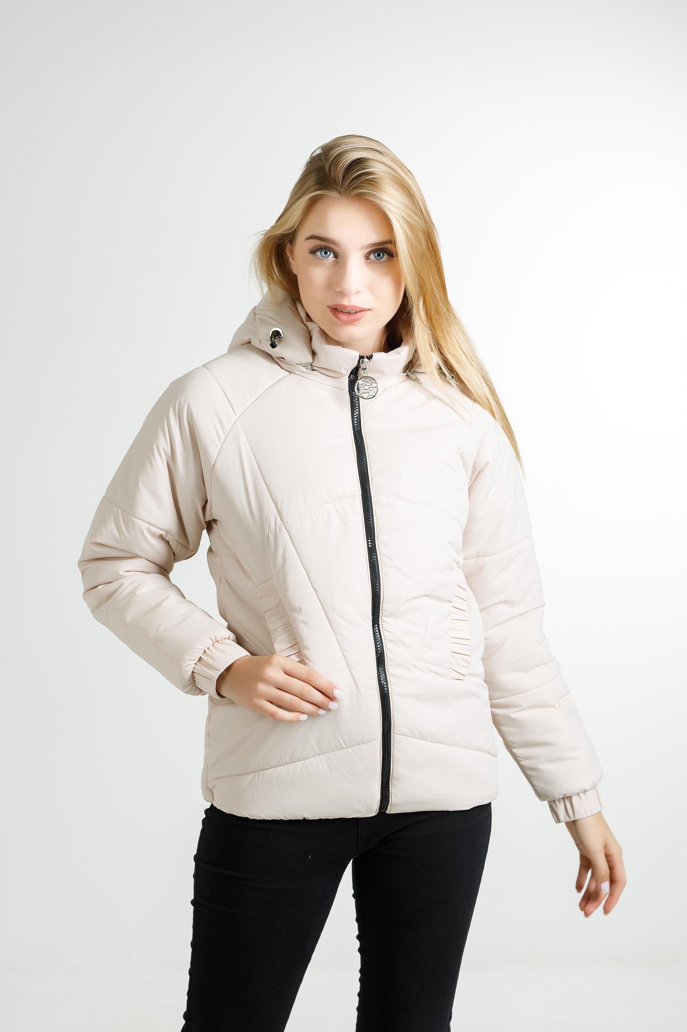 Демісезонна куртка Беррі молочного кольору